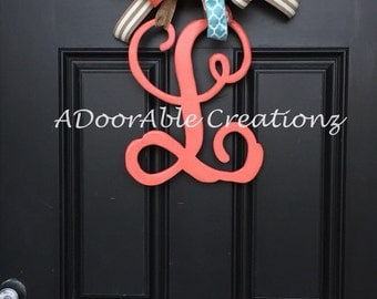Monogram Letter Door Hanger, Monogram Door Hanger, Monogram initial Door Hanger, Mongram Wreath