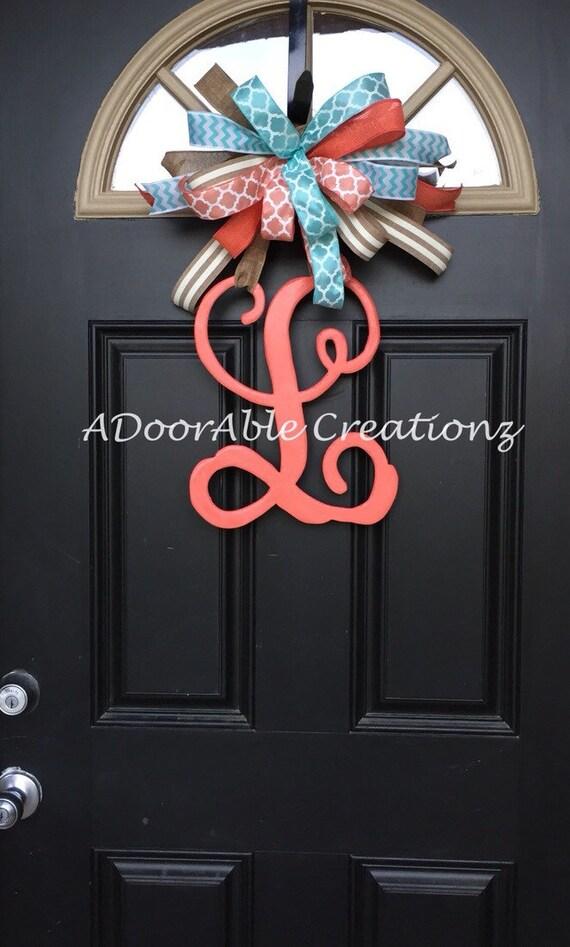 Monogram Letter Door Hanger Monogram Door Hanger Monogram