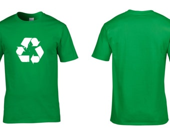 Recycling Recycle Mens Cotton T-Shirt Save the Earth NEW