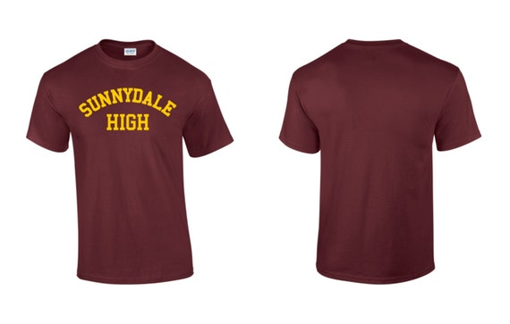 Sunnydale High School Mens Womens Unisex Cotton T-Shirt Retro Geek ...