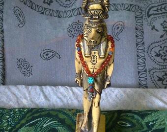 Pagan Prayer Beads - Egyptian God Sobek/Sobek-Re - Carnelian, Lapis Lazuli, Scarab - Crocodile Charm