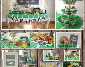 Hydration Station Sign, Linebacker Lemonade, Sideline Snacks, Football Party Decor, Football Birthday, Digital File