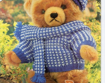 Teddy bear clothes patterns Teddy outfits teddy clothes 10 styles, 38,43 and 48 cm high - teddy bear knitting pattern - pdf instant download
