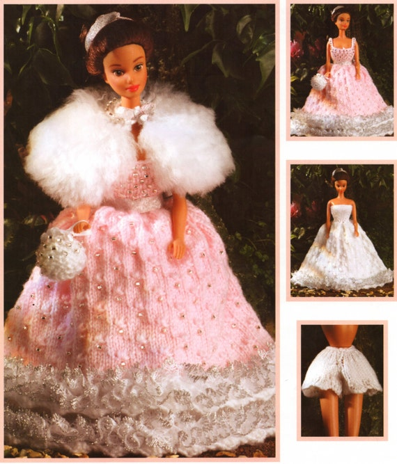 Teenage doll knitting pattern fashion dolls clothes princess