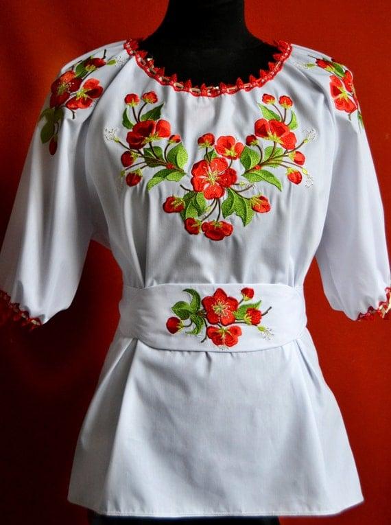 Ukrainian embroidery embroidered blouse by ukrainianbeauty