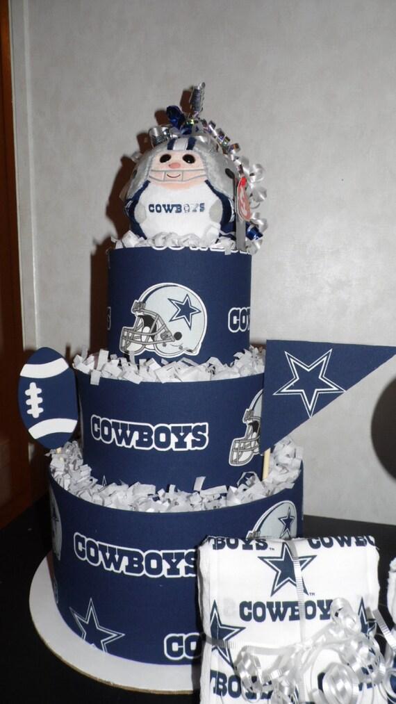 Gorgeous Dallas Cowboy Themed Diaper Cake