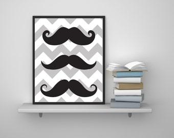 Mustache Wall Art , Mustache Wall Decor , Hipster Wall Art , Hipster Wall Decor , Printable Art Print , Printable Wall Art , Download Art