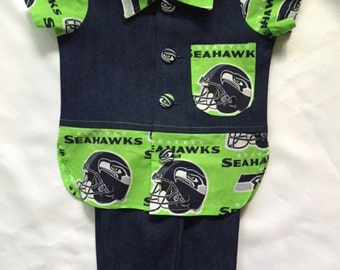 Seattle Seahawks Baby Boy 2 piece Outfit