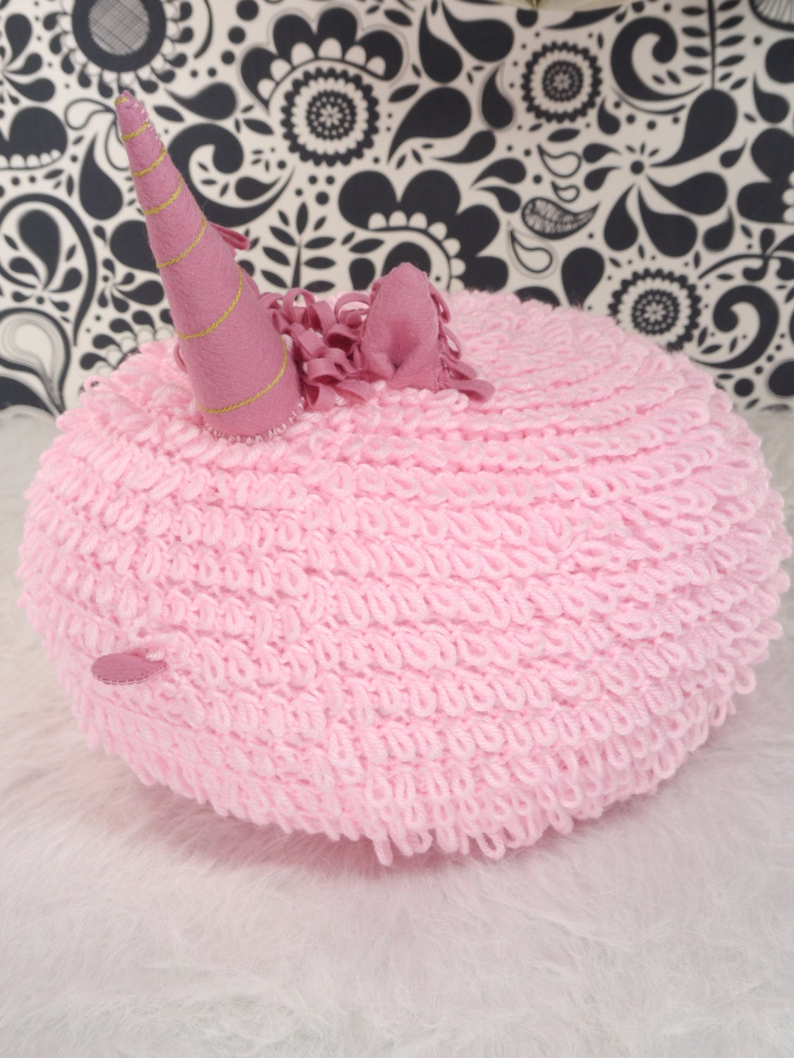 New Sale Price Pink Unicorn Pillow Pink Crochet Floor Pouf