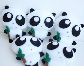 Cute Panda Felt Plush pin/brooch/charm/keychain