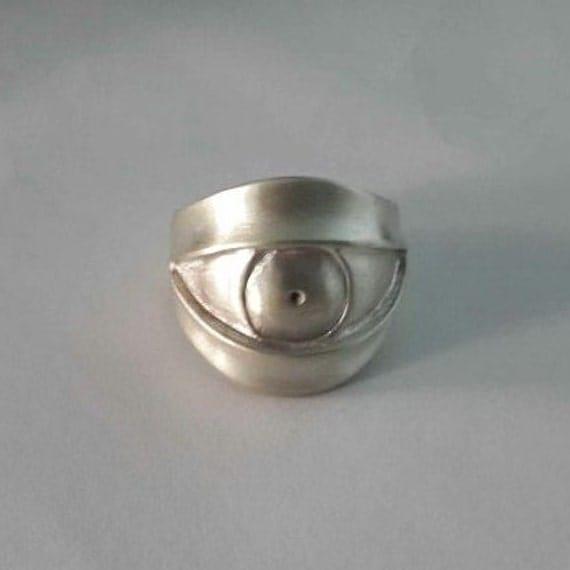 evil eye ring sterling silver evil eye ring by bravermanoren