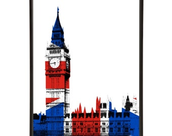 Big Ben House of Commons Parliament Political Pop Art Print