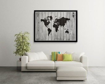 Wood world map wall art carved 3 panel home decor world map world map wood world map poster world map art world map ownload gumiabroncs Choice Image