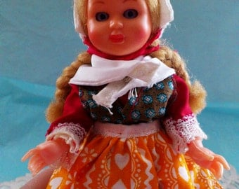 Vintage Doll Danish National Costumes PH Doll Made in Denmark