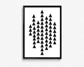 PRINTABLE Art Geometric Triangle Print Geometric Wall Art Geometric Print Geometric Print Triangle Wall Art Triangle Print Triangle Art