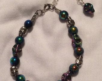 Rainbow Skulls Bracelet