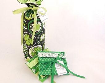 St. Patrick's Day Wine Bottle Gift Bag