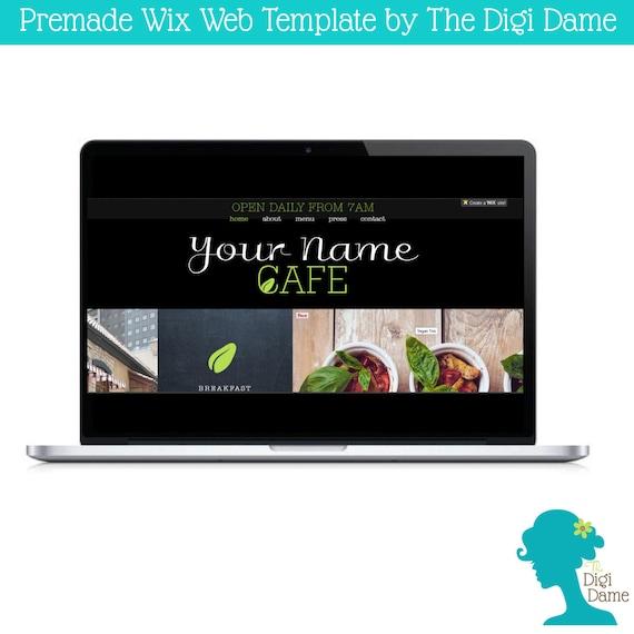 wix ooak website template logo package rustic by digidame. Black Bedroom Furniture Sets. Home Design Ideas