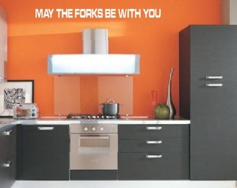 May The Forks Be With You- wall decal kitchen decor Star Wars