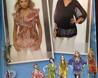 Simplicity 2706 - Project Runway Top Tunic Dress for Sheer Fabrics - Size 4 6 8 10