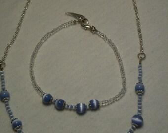 Poweder Blue Catseye set