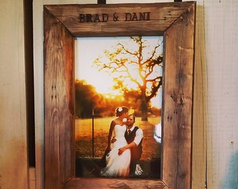 custom wood burned frames