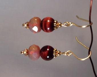 Red Tigereye earrings