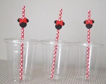 Minnie Mouse birthday Straws -10
