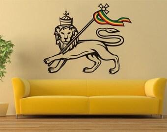 Lion of Judah Decal - Rastafari Stickers - Ethnic Stickers