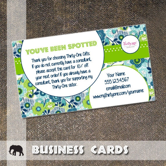 Thirty one business card you have been spotted by studiosafari for Thirty one business cards vistaprint