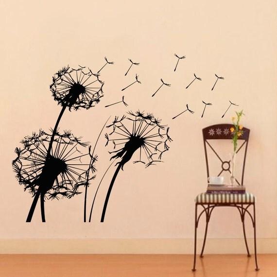 Vinyl Wall Decals Dandelion Flowers Floral Design Decal