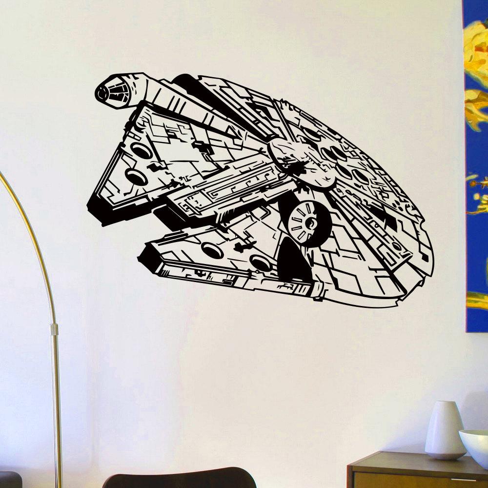 Wall Decals Vinyl Sticker Decal Star Wars Millennium Falcon