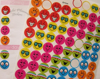 Silly Smiley Planner Sticker Sheets, 100 Mini Silly Smiley Stickers for your Planners