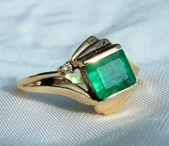 sold vintage emerald ring great price 1 66 ct