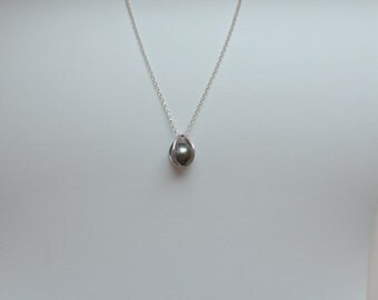 Pendant silver Cage with a Pearl of Tahiti (#17001)