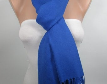 Cobalt Blue Pashmina Scarf Fashion Scarf Shawl Winter scarf Women Fashion Accessories Christmas Gift Ideas For Her For Mom MELSCARF