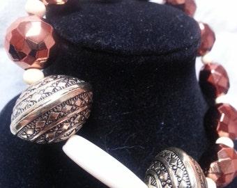 Cream Bar beaded bracelet