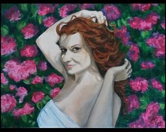 Commission acrylic portrait