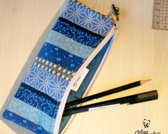Pen case made with kimono pattern japanese fabric.