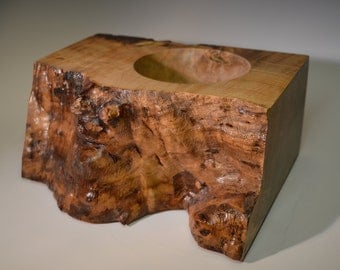 Natural edge bowl with maple wood (NEB-2)