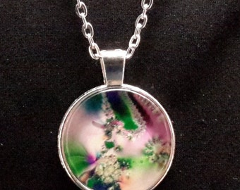 Pastel Fractal Necklace