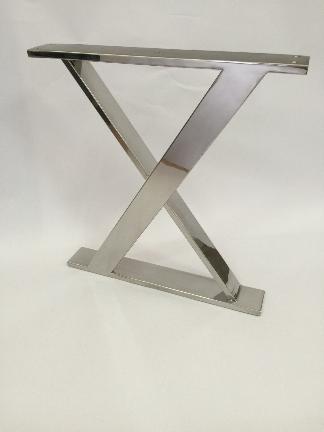 14inch X Frame stainless steel bench base, ottoman base, seat base, side  table - Stainless Table Base Etsy