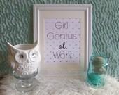 Girl Genius at Work 8 X 10 Digital Print