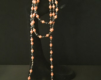 60's BoHo Hippy Bead Necklace                             VG1223