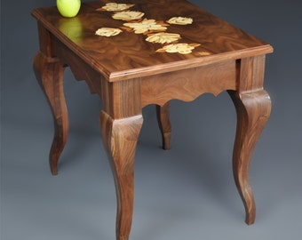 End Table with Custom Marquetry Inlay