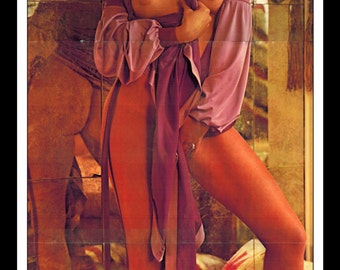 "Mature Playboy August 1974 : Playmate Centerfold Jeane Manson 3 Page Spread Photo Wall Art Decor 11"" x 23"""