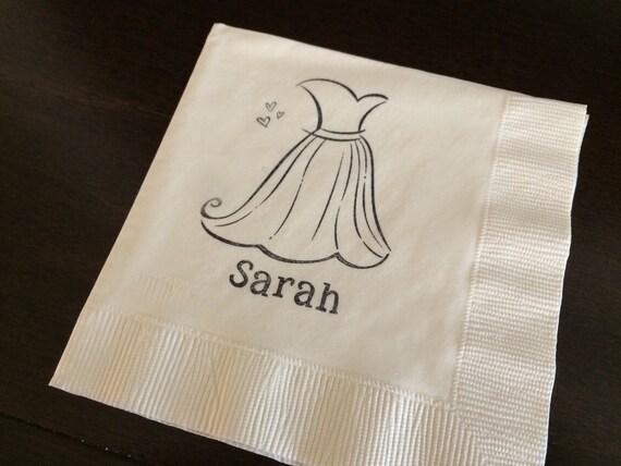 wedding dress napkins