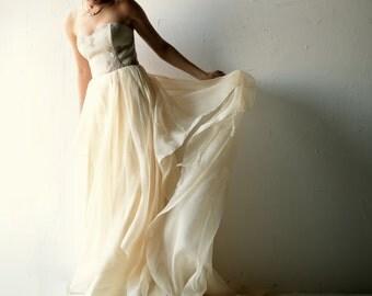 Wedding dress, Boho wedding dress, Bohemian wedding dress, Princess wedding dress, Champagne wedding dress, Alternative wedding dress, gown