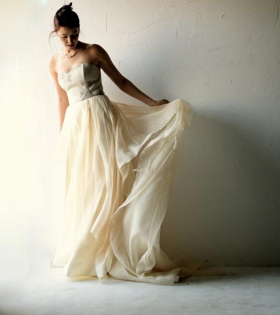 , vestito di seta, abito da sposa, matrimonio, vestito da sposa fatto ...