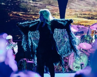 As Worn by Stevie Nicks Shawl, Black Stevie Nicks Clothing for Fleetwood Mac Concert Outfit Stevie Shawl Women Accessories